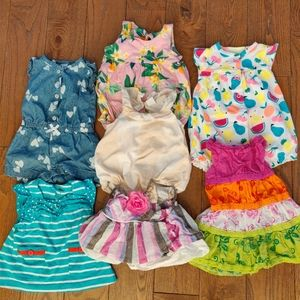 Baby girl rompers and dresses
